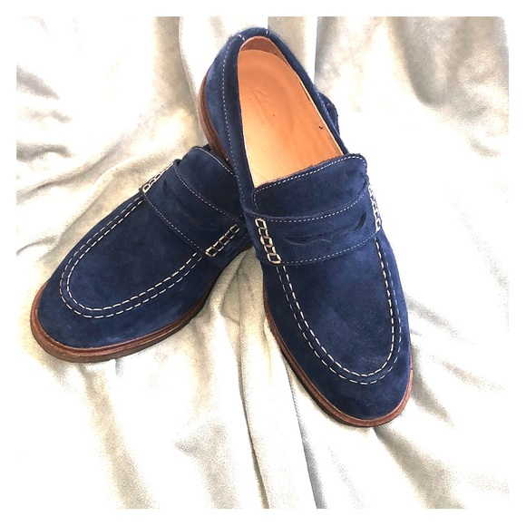 Clarks Shoes | Clark Blue Suede Loafers